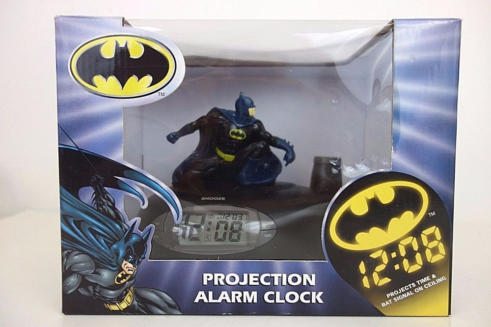 New Batman Projection Alarm Clock Rare Bat Signal Dccomics