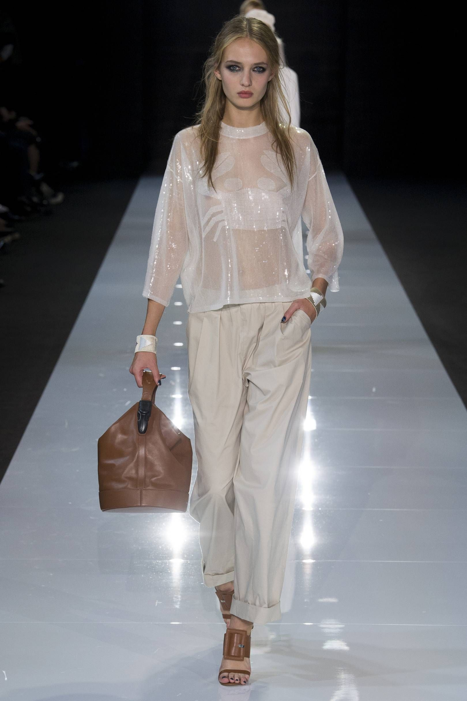 Fashion Week 2018 Summer Outfits Dresses Armani Collection Show