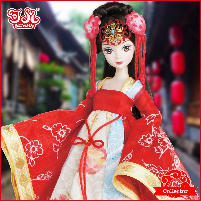 28cm Chinese Fashion Bride Doll Wedding Gift Collection 9070 In