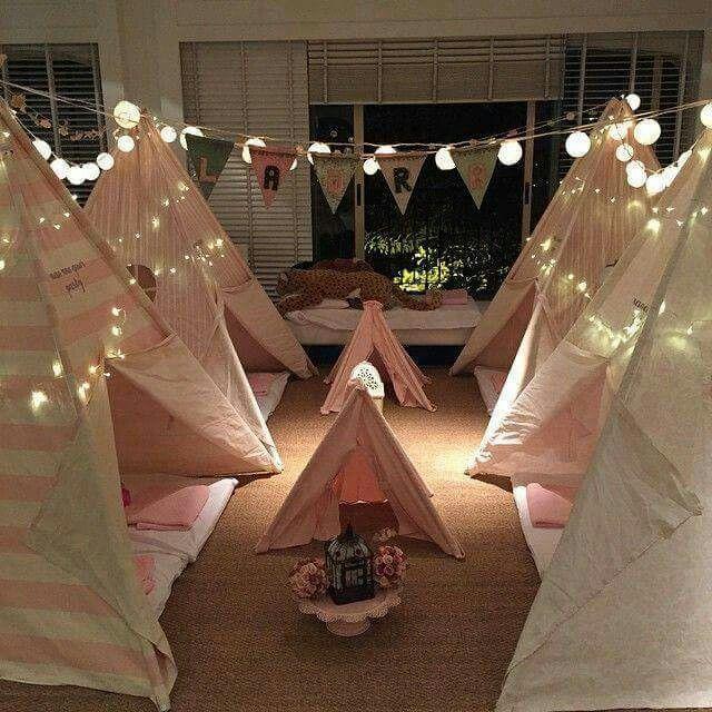 1000 Ideas About Girls Teepee On Pinterest: Sleepover Birthday Party For Girls. Teepee