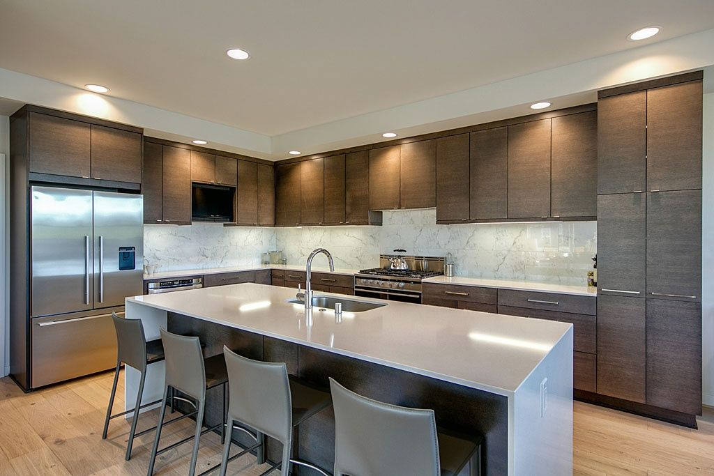 Best Contemporary Kitchen With Ms International Carrara White 640 x 480