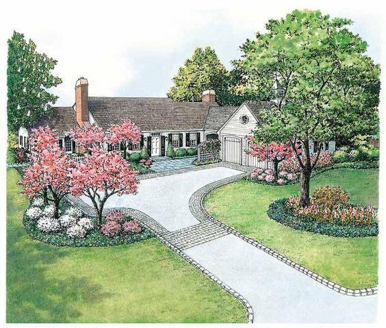 Eplans Landscape Plan - Landscape for Easy Garage Access from Eplans - House Plan Code HWEPL11434