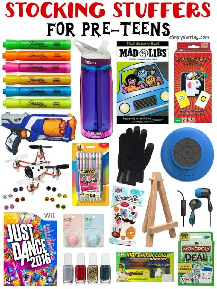 Good Stocking Stuffer Ideas stocking stuffers for pre-teens | christmas gifts, teen and boys