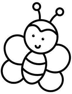 نحلة تعليم الرسم للاطفال رسومات اطفال سهله للتلوين Bee Coloring Pages Easy Drawings For Kids Coloring Pages