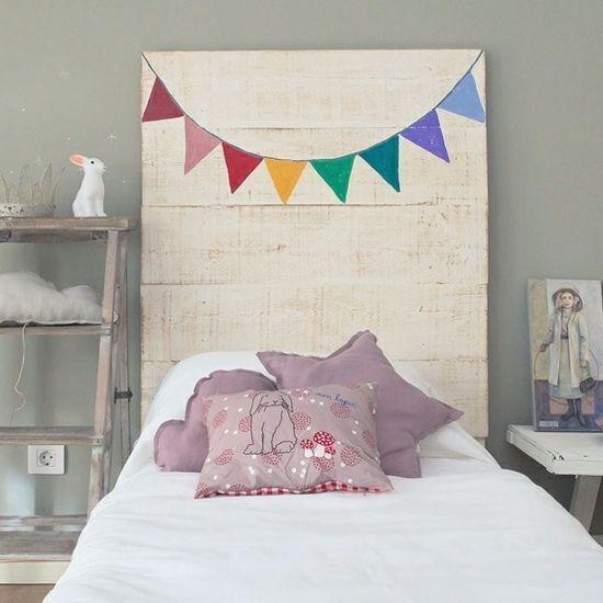 Paletten Möbel Bett Kopfteil Kinderzimmer Selber Bauen | .Fürs