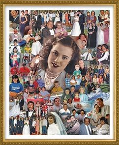 Picture collage poster print for custom 60th birthday gift picture collage poster print for custom 60th birthday gift meaningful and thoughtful 24x28 blended collage using 40 photographs procollage negle Images