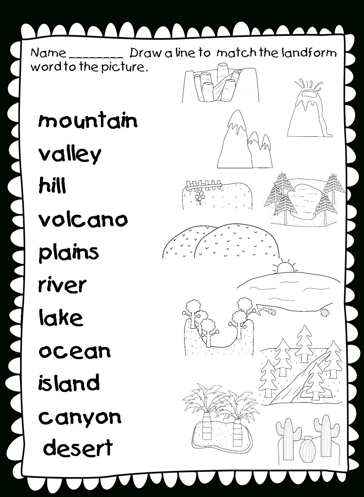 Free 1st Grade Social Stu S Worksheets Pictures