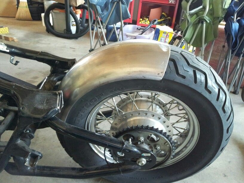 rear fender mock up honda shadow bobber build. Black Bedroom Furniture Sets. Home Design Ideas