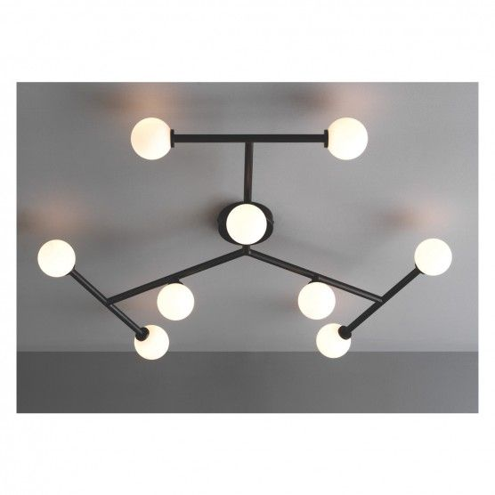 Aero Snail L1697 Modern Style Flush Mount Designers Metal 10 Light Ceiling Lamp Chandelier Lighting Fixure