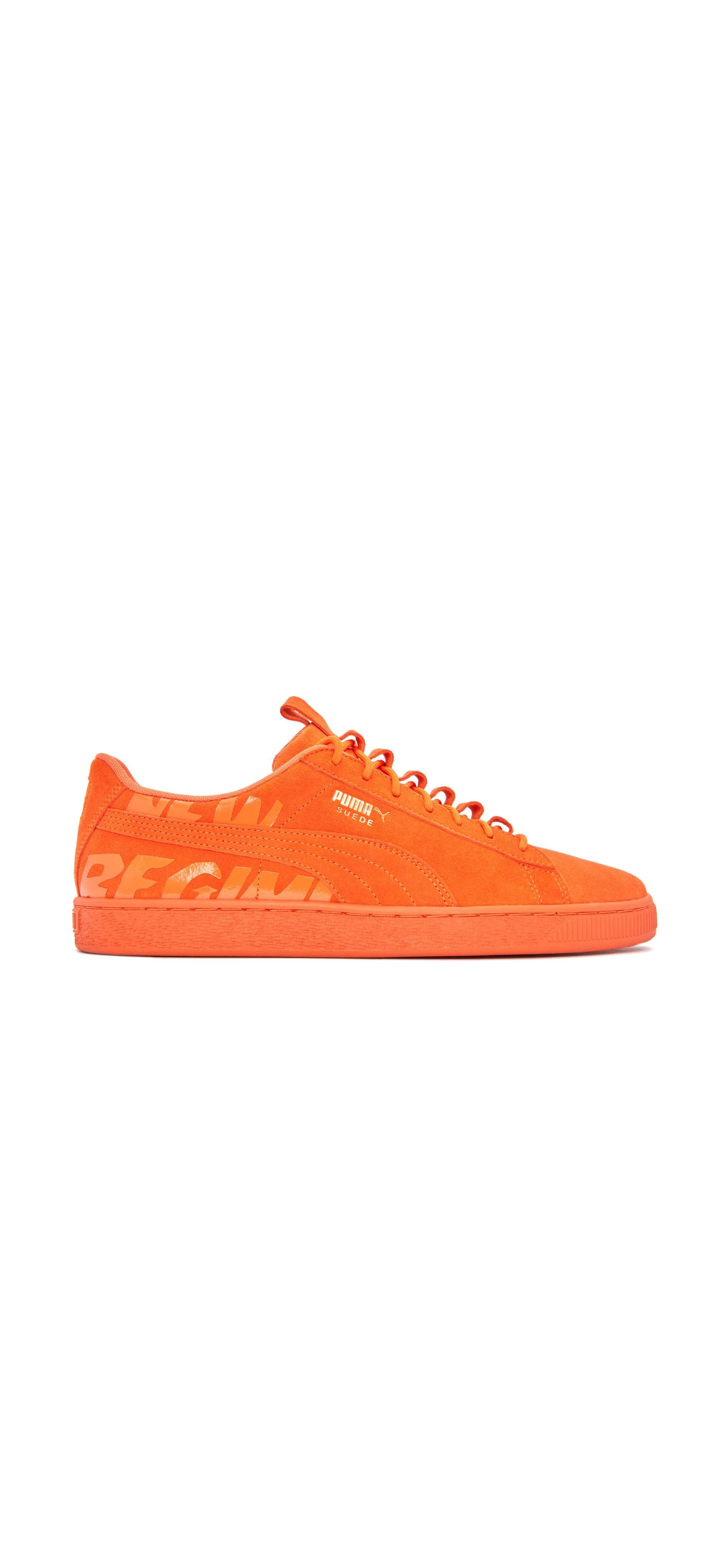 295c7033feb82 ... ANR iteration of the Classic Suede features a winterized court  silhouette with a smooth tonal suede upper, large rubberized signature NEW  REGIME graphic ...