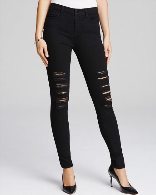 198.00$  Buy now - http://vimkj.justgood.pw/vig/item.php?t=856pnu35996 - J Brand Maria High Rise Destructed Jeans in Blackheart 198.00$