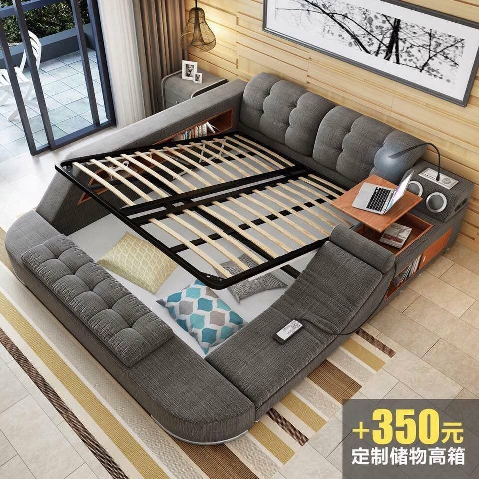 All In One Bed Full Of Gadgets Storage Tatami Bed Bed Design Modern Bed