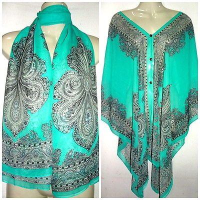 a139436597 New Paisley Women's Kaftan Tunic Scarf Tops Blouses Dress Wing Beach Cover  Up