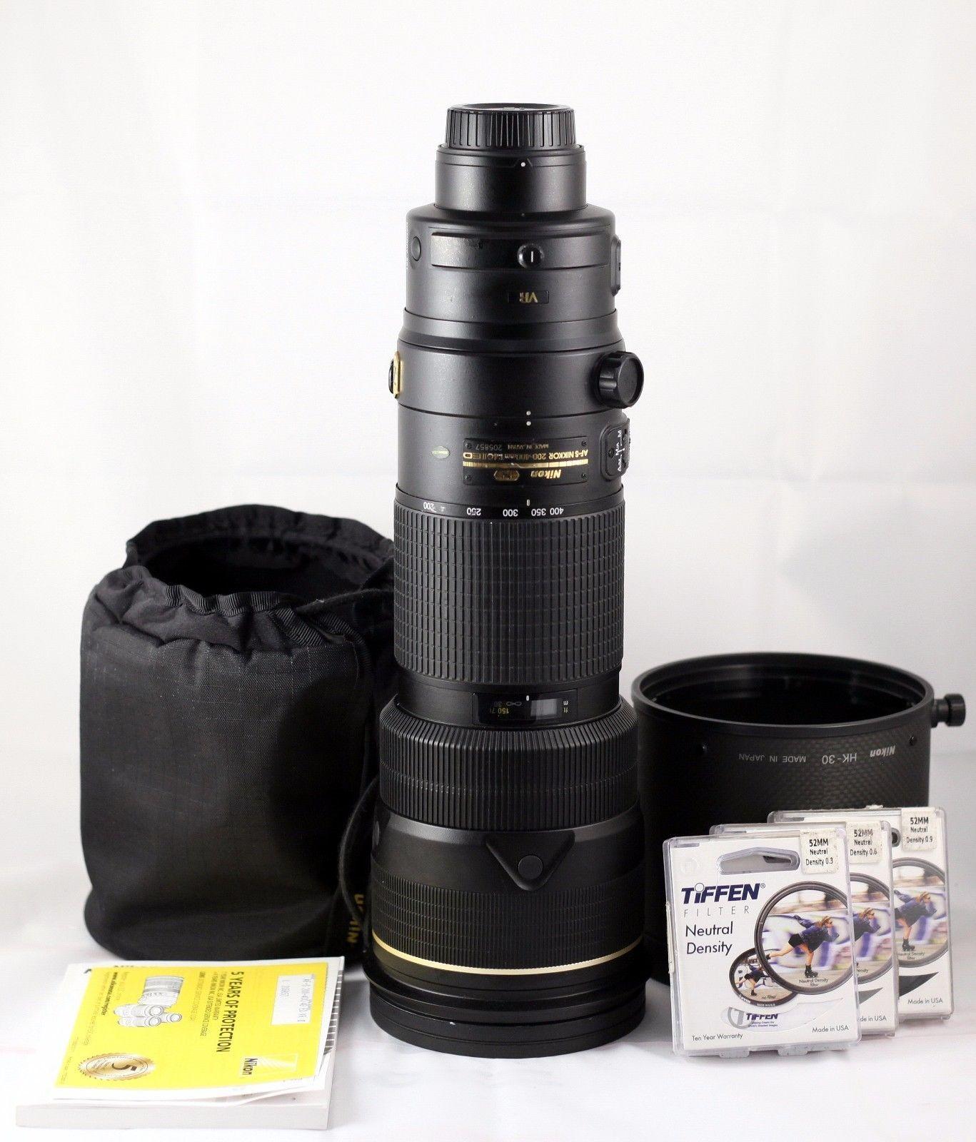 Nikon Nikkor 200 400mm F 4 Ii Swm Af S Vr If N Ed Lens Mint 105mm 28g Dx Fisheye