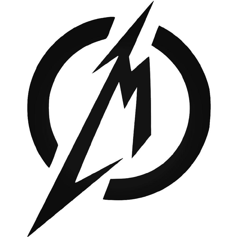 metallica m logo vinyl decal sticker aftermarket decals rh pinterest com metallic logos megapack torrent metallica logo shirt for women