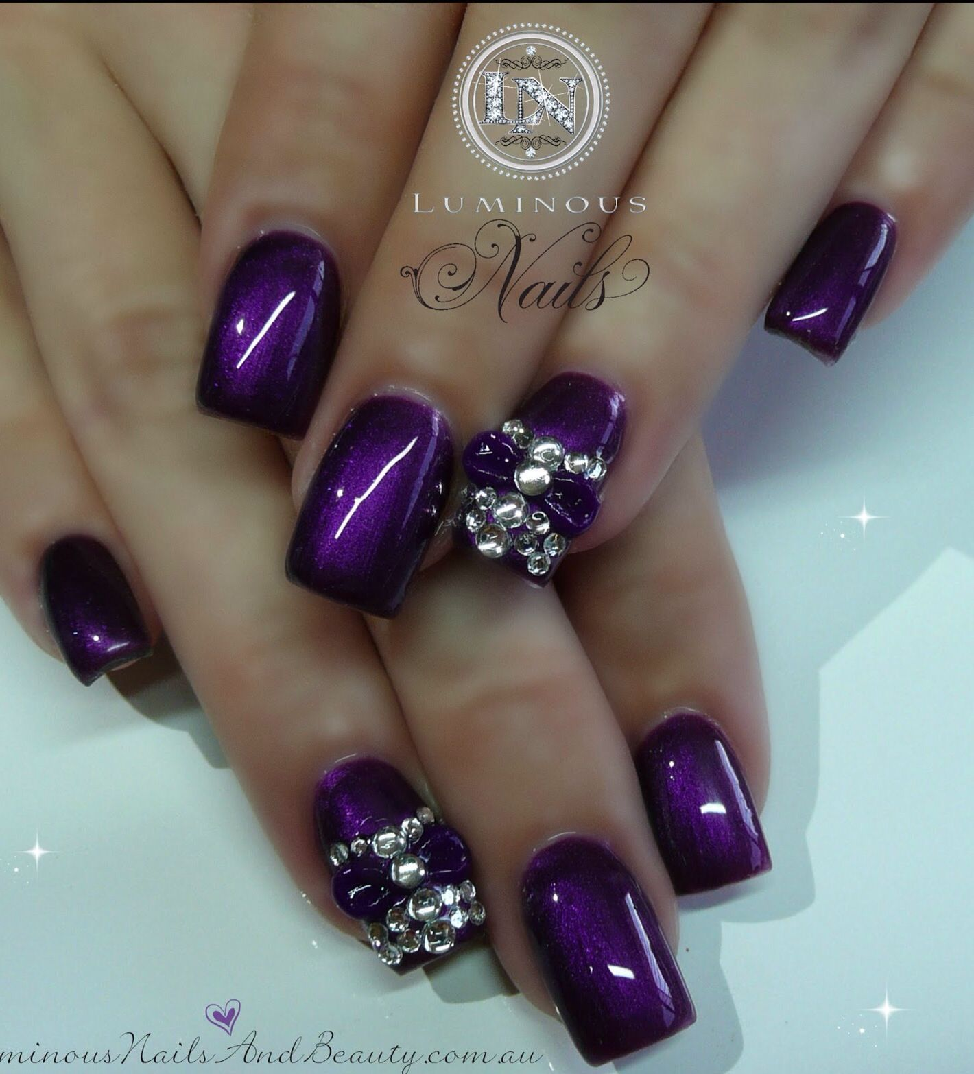 Purple nail design | Everything Nails | Pinterest