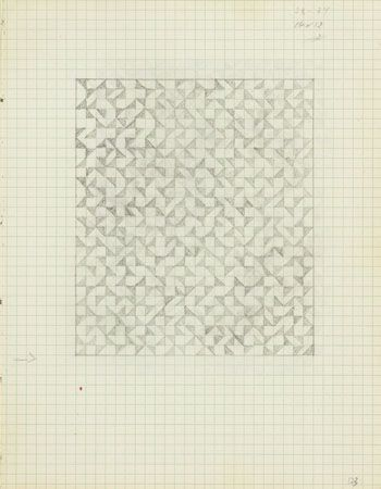 Anni Albers, Drawing from a notebook, 1973  Pencil on paper