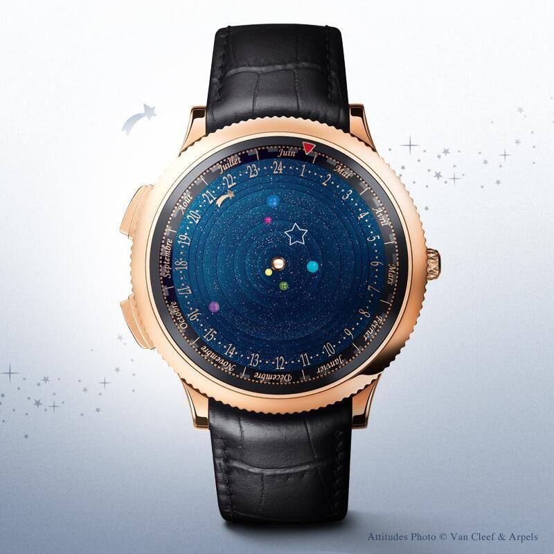 Van Cleef & Arpels : Planétarium timepiece : a representation of the true movement of six planets around the sun