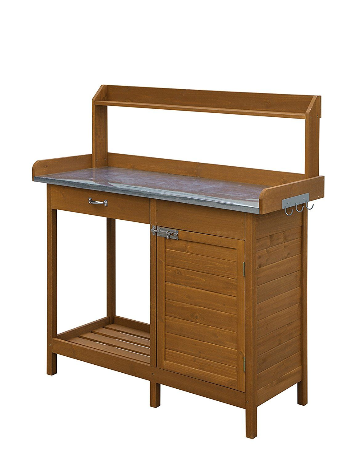 Convenience Concepts Deluxe Potting Bench With Cabinet *** Awesome ...