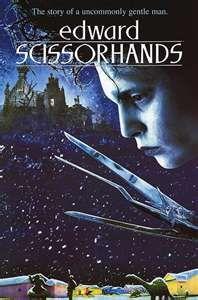 Edward Scissorhands Movie Poster Tim Burton Films Edward