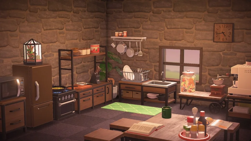 Since We Re Posting Ironwood Kitchens I Just Finished Mine Yesterday Animalcrossing In 2020 Animal Crossing New Animal Crossing Animal Crossing Game