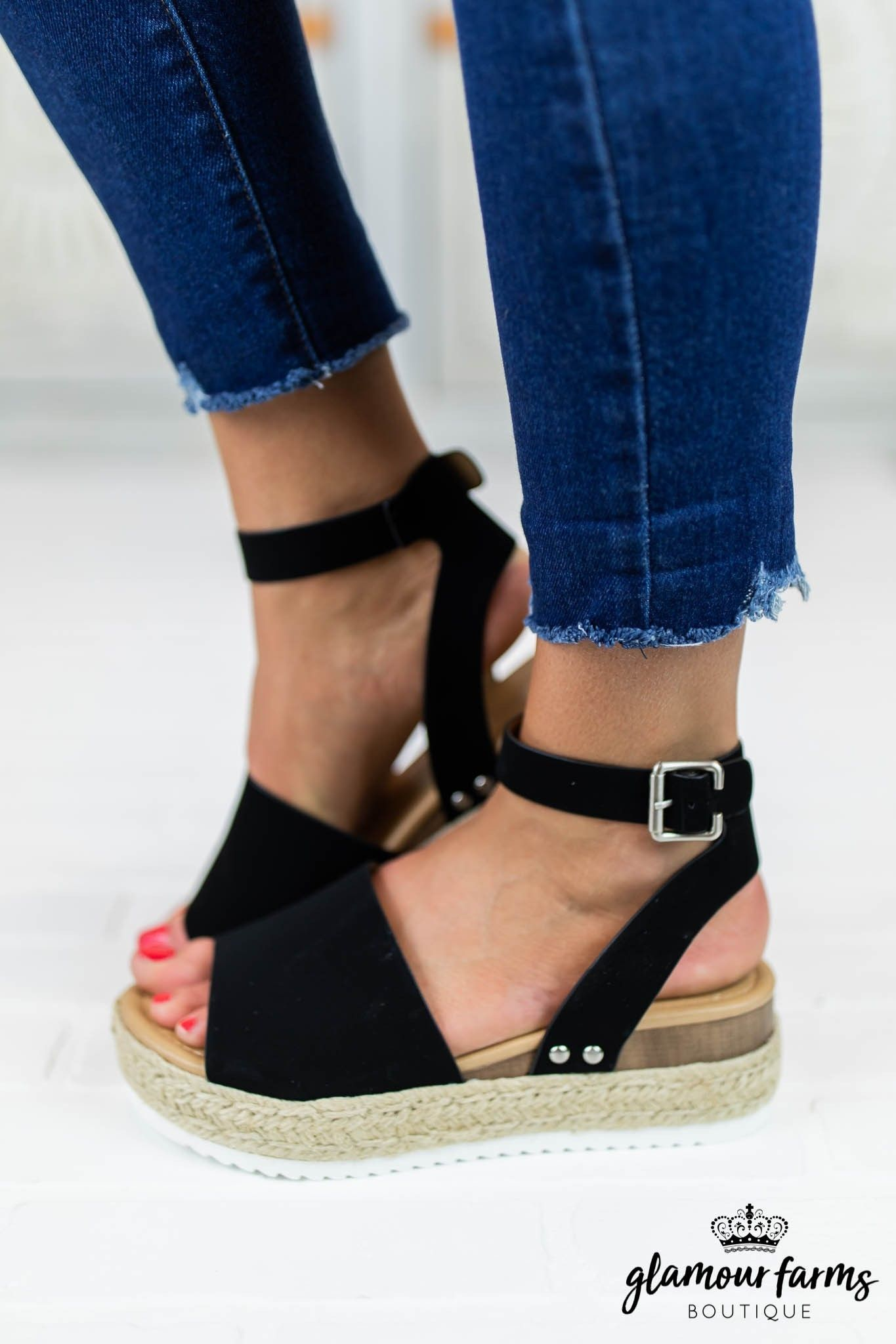911746b49f Topic Platform Espadrille Sandal - Black #glamourfarms #boutique #shopping  #trends #spring #look #style #favorite #cute #outfit