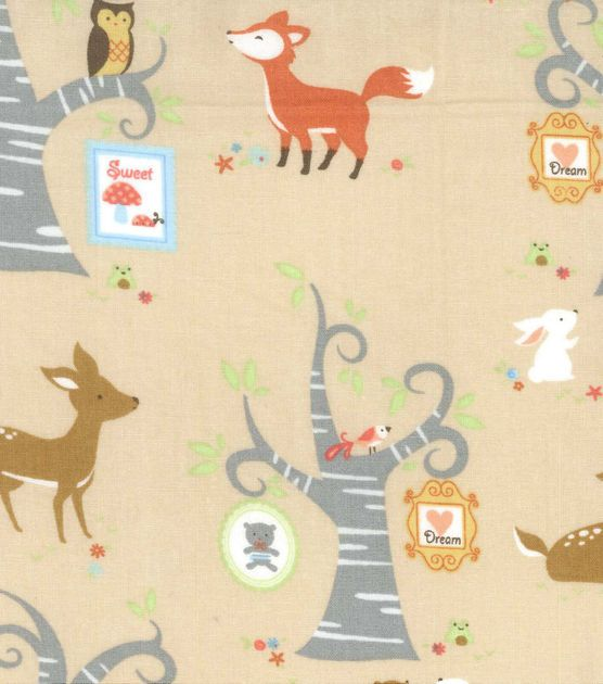 shop nursery fabric woodland tree frames nursery fabric at joanncom