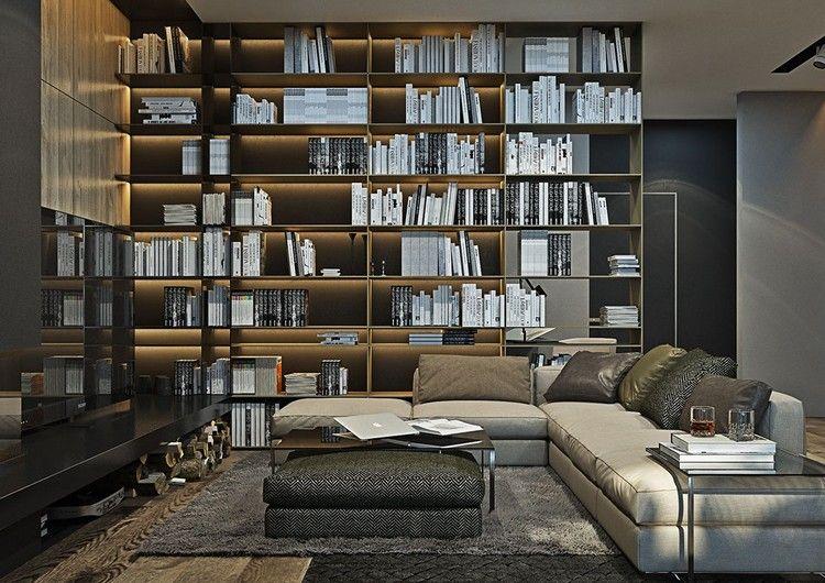 Wohnzimmer In Grau Und Schwarz Gestalten U2013 50 Wohnideen Mit Dunklen Möbeln  Und Wänden #dunklen