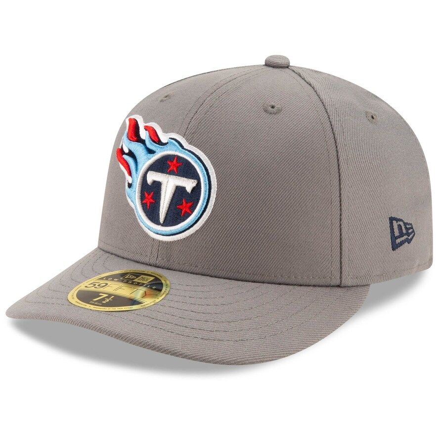 usa cheap sale best value classic fit Men's New Era Graphite Tennessee Titans Storm Low Profile 59FIFTY ...