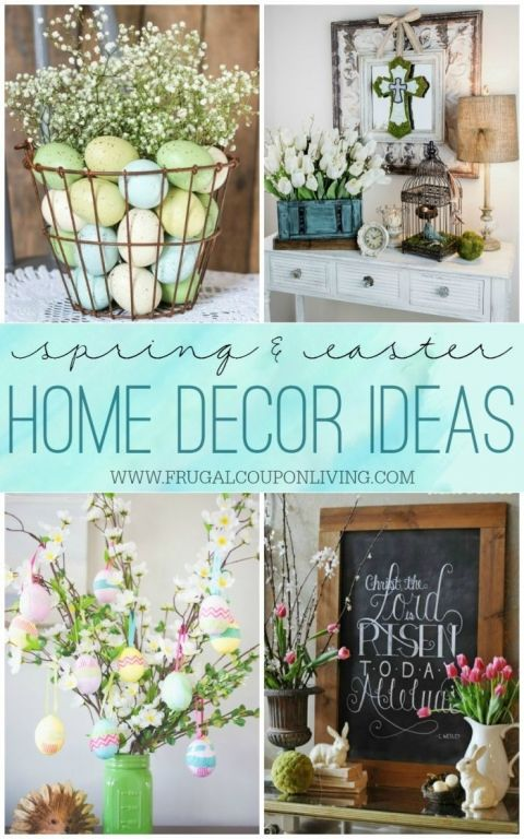 Spring  Easter Home Decor Ideas Easter and Easter decor