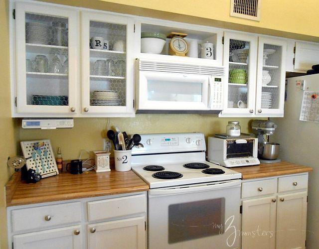 Chicken Wire Kitchen Cabinets Part 2   Chicken wire, Kitchen ...
