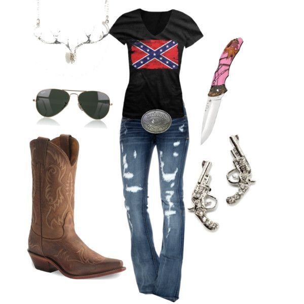 """""""Rebel country girl"""" by southernsammy on Polyvore"""