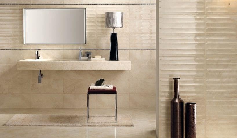 3D ceramic wall tile: striped - MARMO D : MARFIL ...