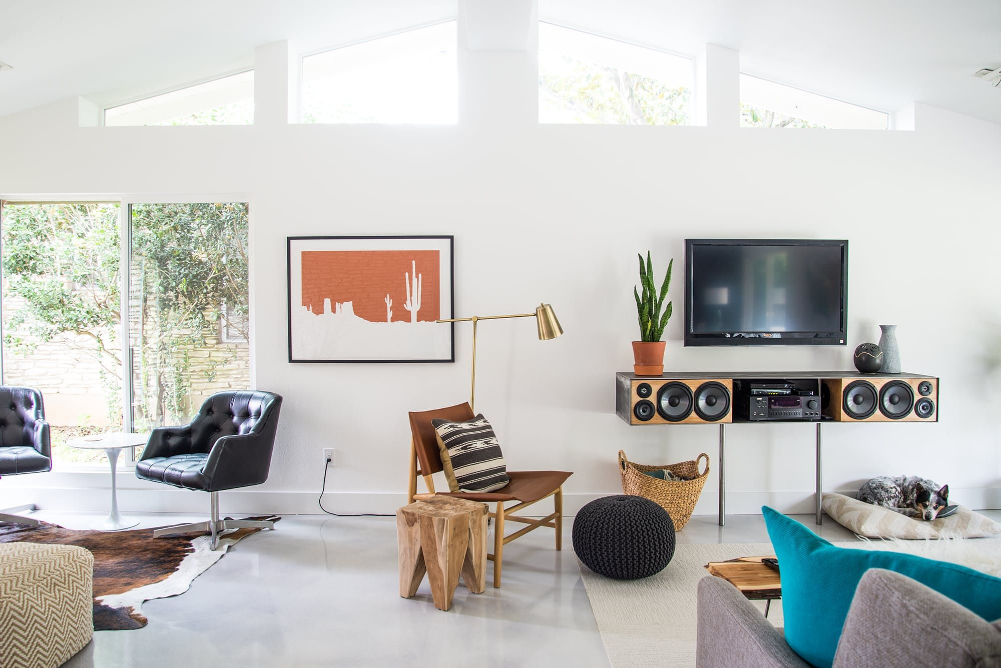 Tour a DIY-Obsessed Couple\'s Renovated 1960s Austin Home | Low pitch ...