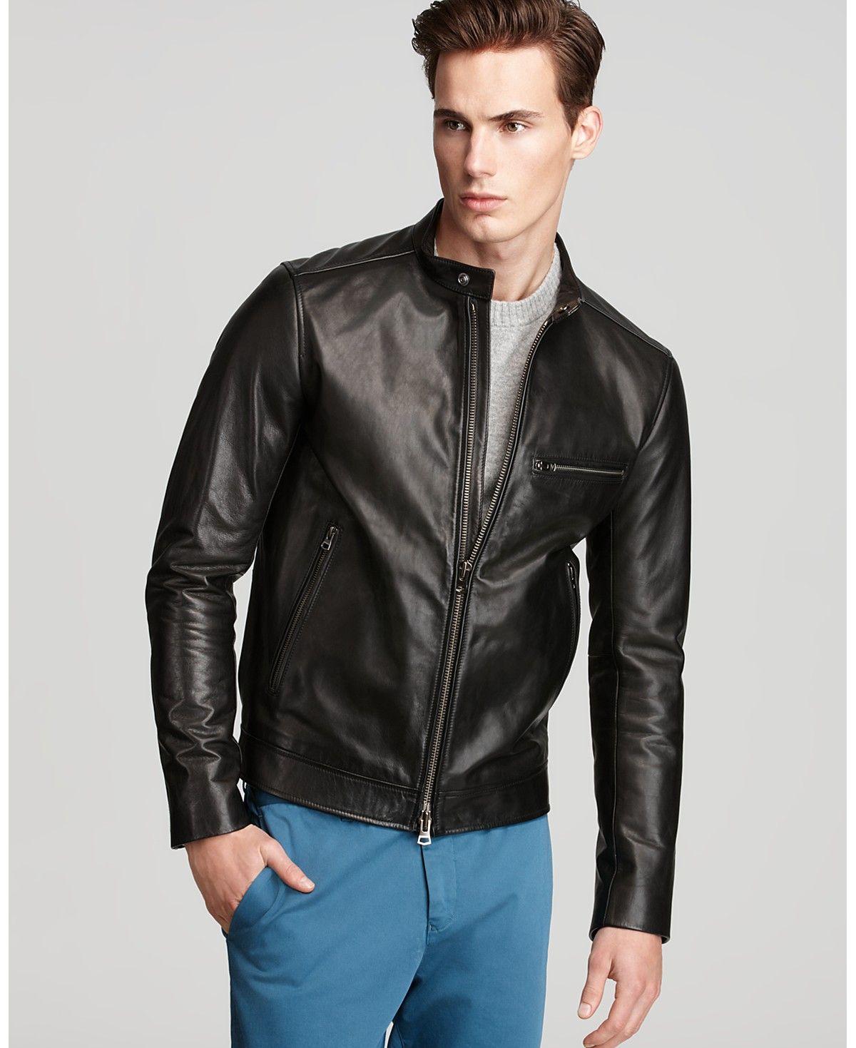 Theory Brome Karel Leather Jacket Men Coats Jackets Bloomingdale S Leather Jacket Jackets Leather Jacket Men [ 1469 x 1200 Pixel ]