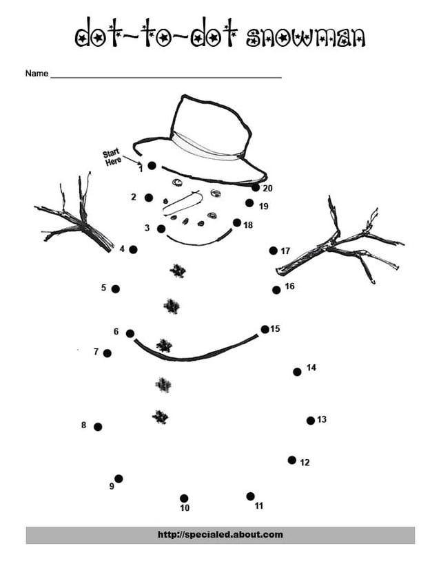 Christmas Skip Counting Dot to Dots – Free Printable Dot to Dot Worksheets for Kindergarten