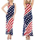 (Medium Red) - New Arrival Women's American Flag Dress - Patriotic USA Red #Fitness