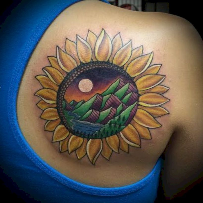 40++ Amazing Sun tattoo designs images ideas
