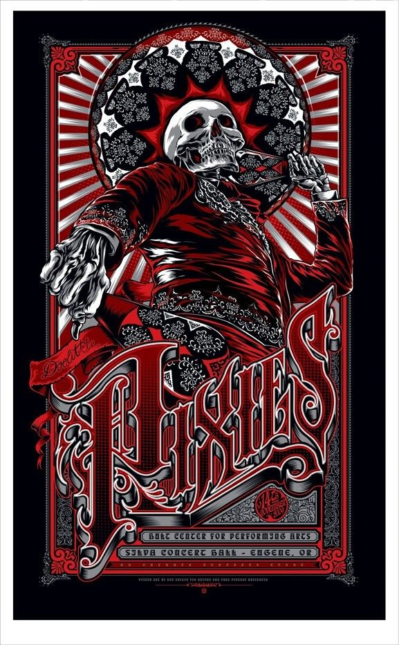 Bright The Avett Brothers 2014 Zeb Love Poster Print Shrine Auditorium Los Angeles Art Art Prints