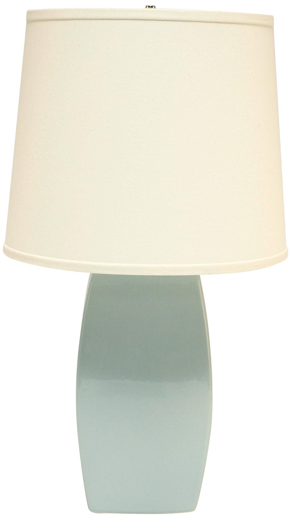 Haeger Potteries Mist Ceramic Soft Rectangle Table Lamp Decorating