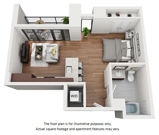 Studio 1 2 3 Bedroom Apartments Floor Plans 1000 Speer By Windsor Studio Apartment Floor Plans Studio Apartment Layout Bedroom Apartment