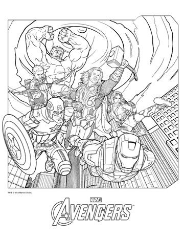 dibujos de superheroes para imprimir avengers Super Heroes Marvel - new hulkbuster coloring pages