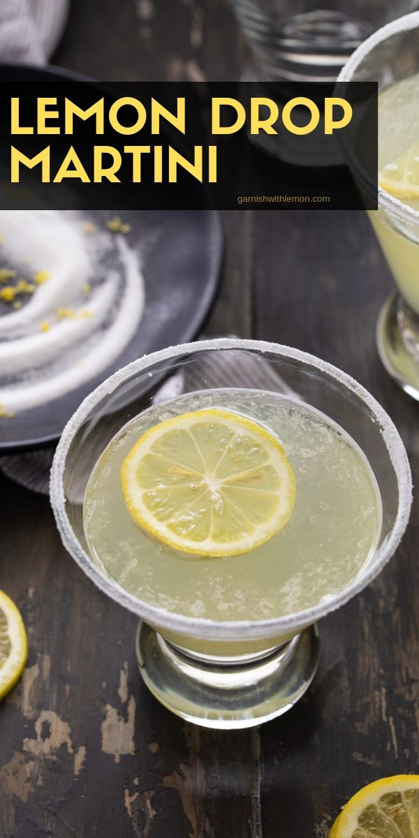 Photo of EASY Lemon Drop Martini Recipe (4 ingredients!) – Garnish with Lemon
