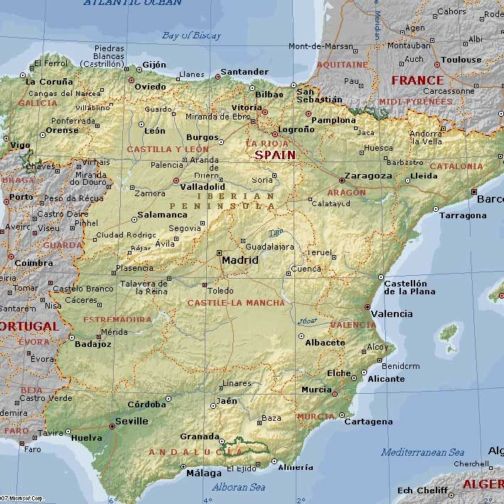 Malaga Granada Cadiz Tarifa Madrid Barcelona Marbella