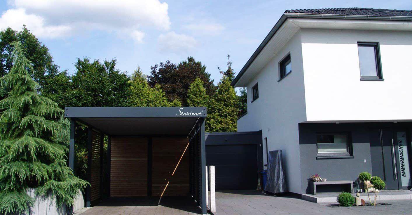 Carport Metall Holz Köln· Abstellraum · Stahlcarport