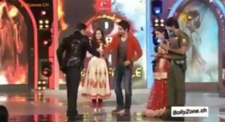 Beintehaa and Rangrasiya with Salman Khan