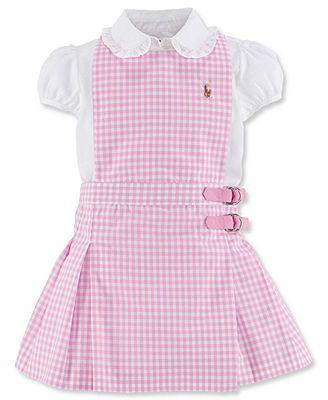 6a63659ad Ralph Lauren Baby Girls' 2-Piece Blouse & Jumper   Baby   Niños ...
