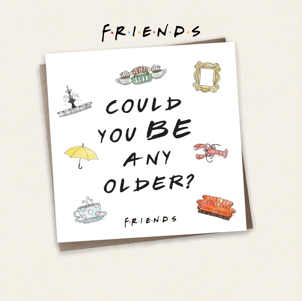 Friends TV Show Birthday Card Chandler Bing Could You   Etsy ...