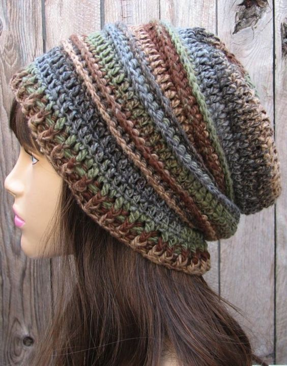 crochet pattern - slouchy hat by jone yang   Crochet-Bags,Gloves ...