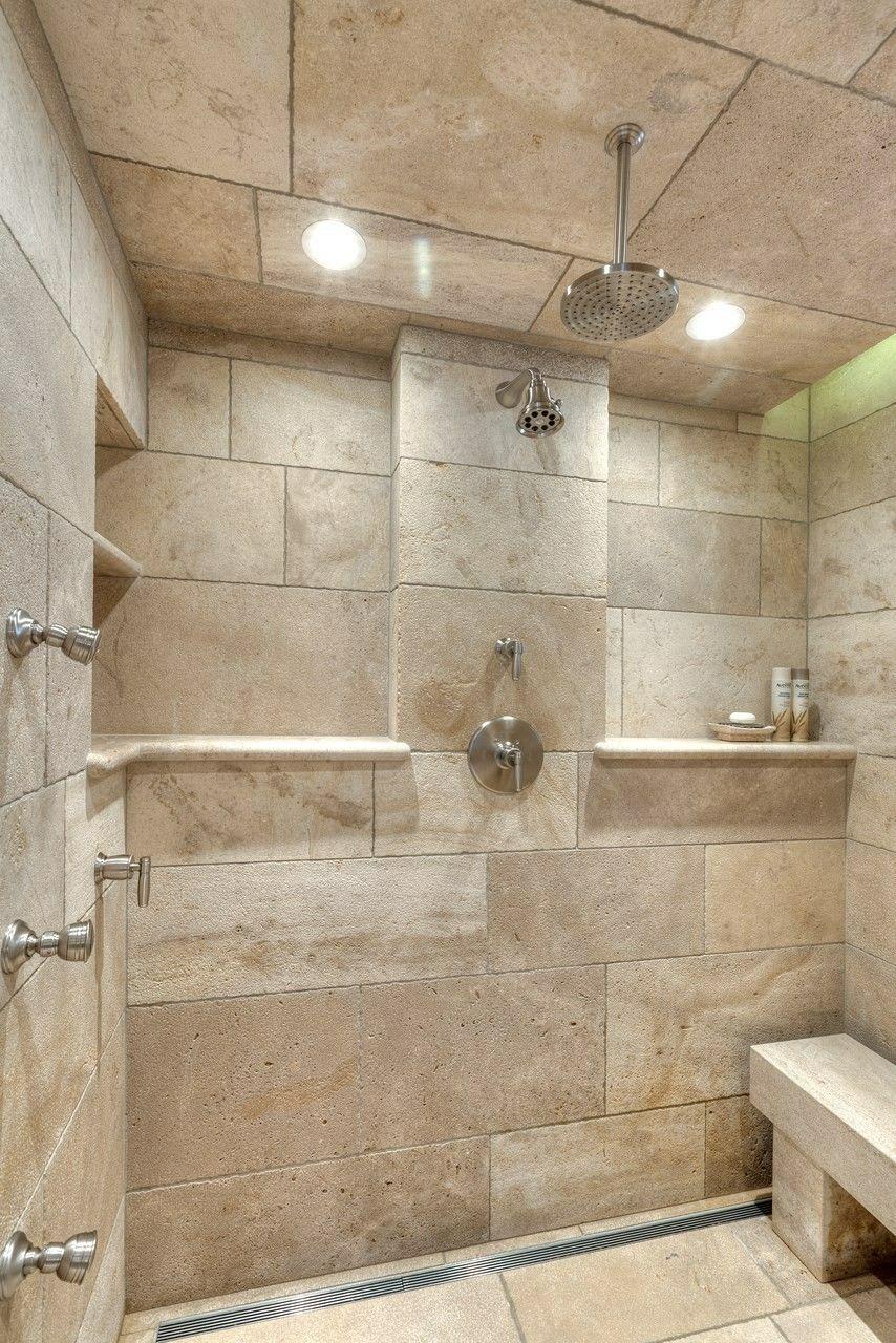 Pin By Krisztina Kakula On Shower Natural Stone Tile Bathroom Natural Stone Bathroom Stone Tile Bathroom